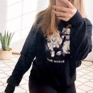 Black Rose Crew Neck Oversized Sweater
